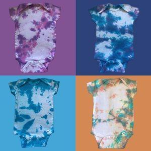 Baby Onesies Tie Dyed